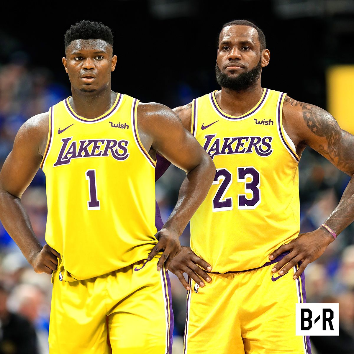Zion Williamson Jersey Swaps For Bleacher Report On Behance In 2020 Sports Design Inspiration Jersey Lebron James Lakers