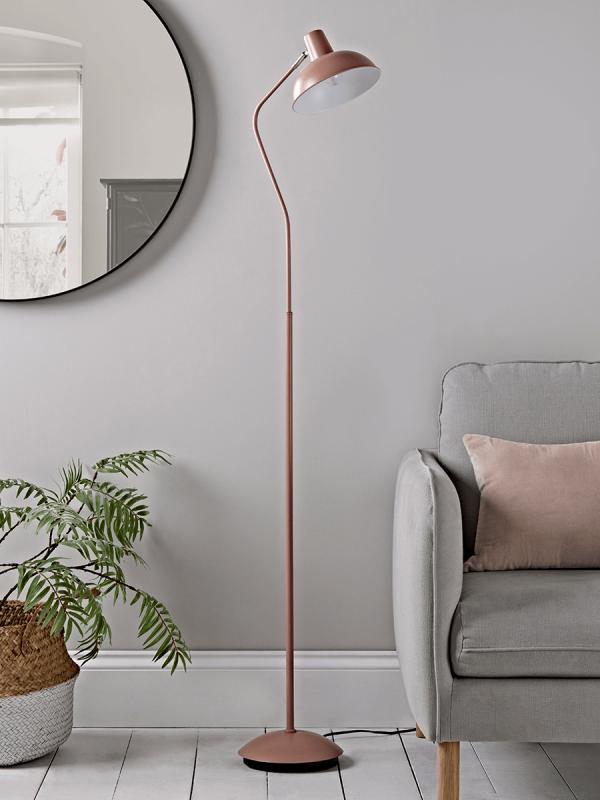 Blush & Silver Floor Lamp in 2020 | Modern floor lamps