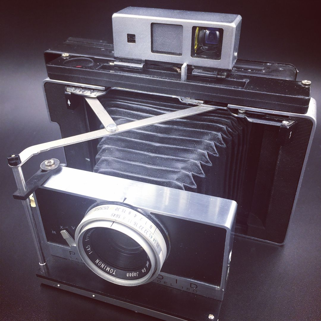 Polaroid 180 with Lomo Instant Instax wide back by