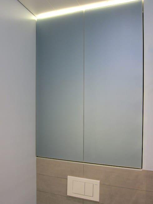 Kleines Bad Mit Grosser Dusche Von Hansen Innenarchitektur Materialberatung Homify Dusche Schiebetur Einbauschrank Dusche