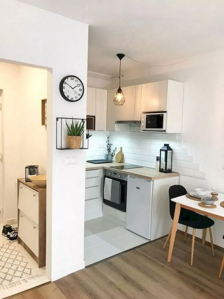 68 Genius Small Apartment Decorating Ideas On A Budget Smallapartmentdecorating Apartmen Living Room Decor Apartment Kitchen Design Small Living Room Kitchen