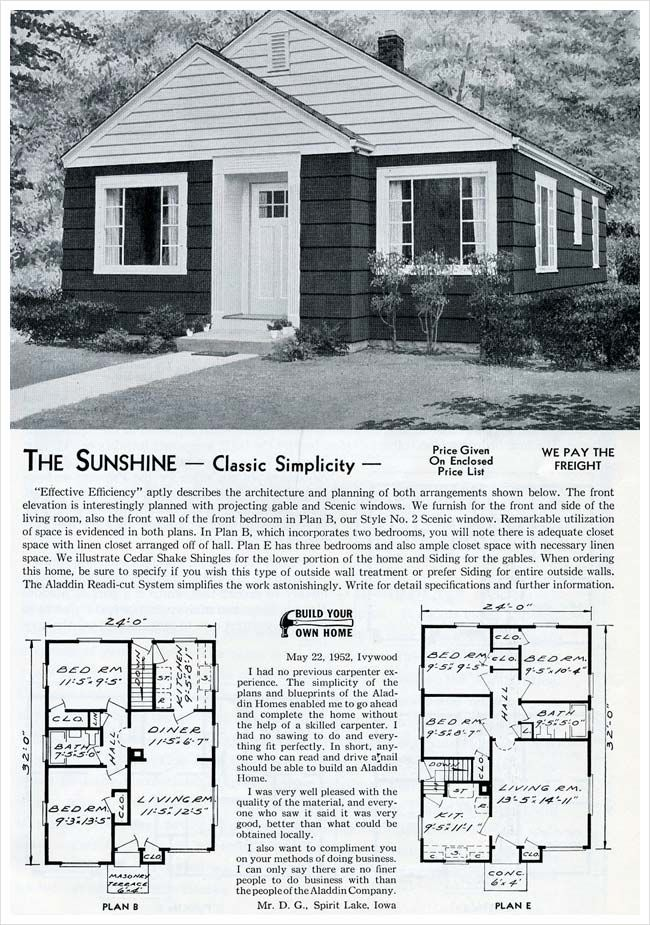 1953 Aladdin Homes: The Sunshine | VinTagE HOUSE PlanS~1950s ... on 1950s small house landscaping, 1950s small tile flooring, 1950s small farm house plans, 1950s office floor plans, 1950s small home, 1950s small ranch house plans,