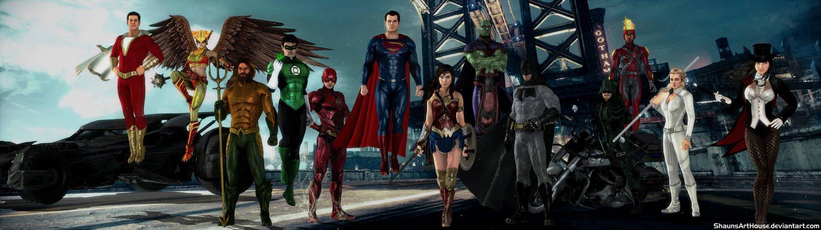 Justice League Dceu Cw Dual Screen Wallpaper By Https Www