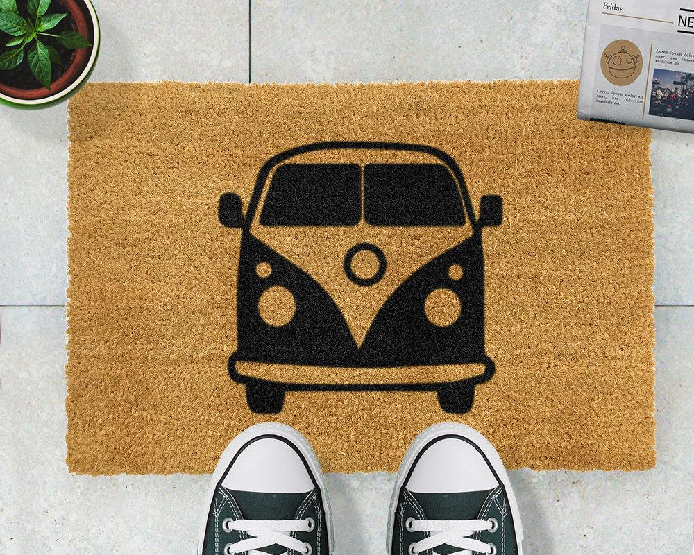 Retro Campervan Doormat -Give you and your guests a grand welcome ...