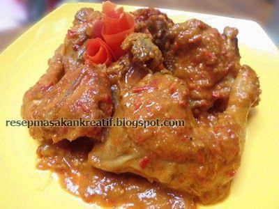Resep Rendang Ayam Bumbu Kental Pedas Resep Resep Masakan Resep Masakan Indonesia