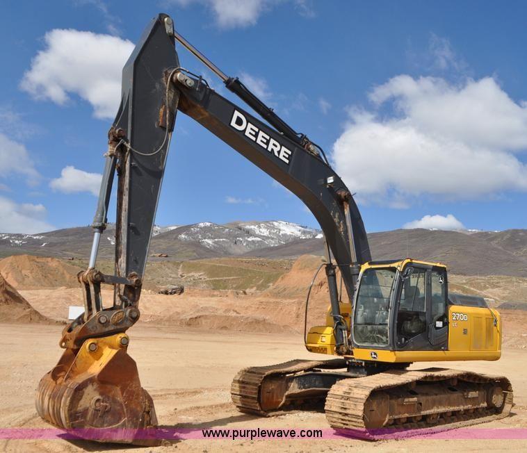 2006 John Deere 270D LC excavator | Item G7338 selling at Thursday April 28 Construction Equipment Auction | Purple Wave, Inc.