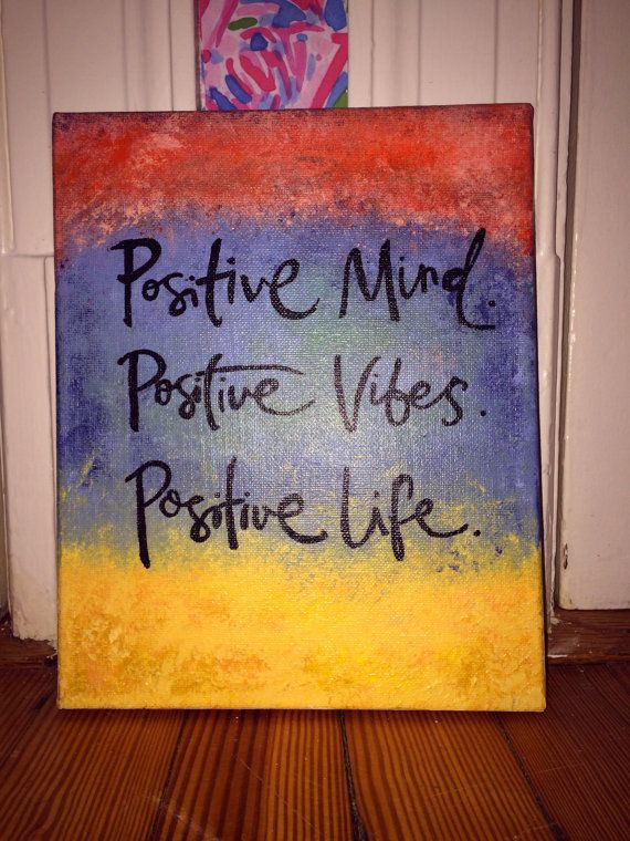Positive Mind Canvas by ArtisteRio on Etsy