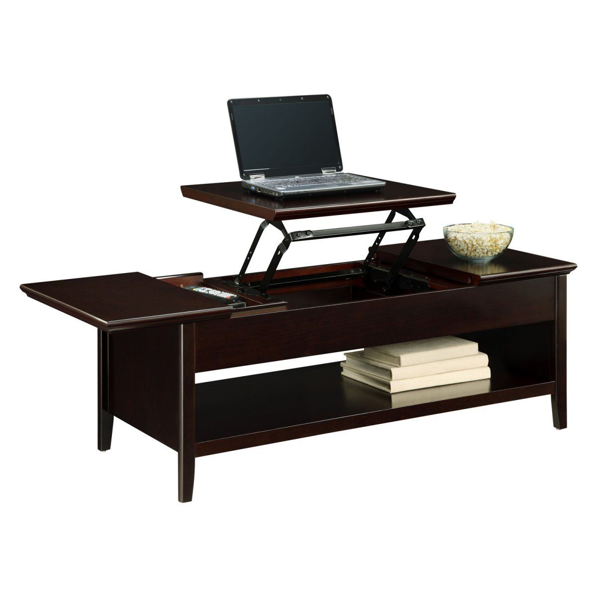 Ines Lift Top Cocktail Table Coffee Table Wood Coffee Table Leather Coffee Table [ 1107 x 1500 Pixel ]