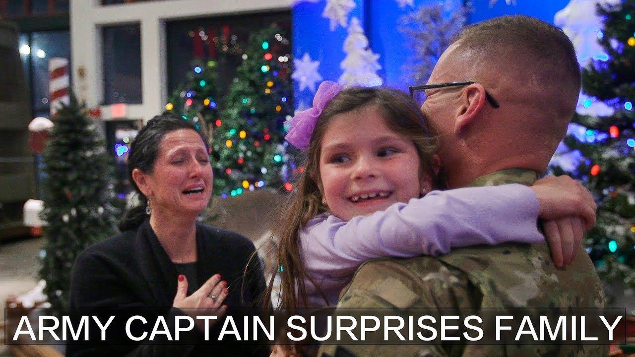 Army Captain's return Surprises Family