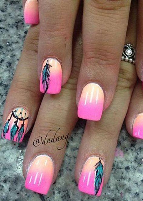 Perfect Summer Nail Art Ideas - Perfect Summer Nail Art Ideas Nails Pinterest Summer Nail