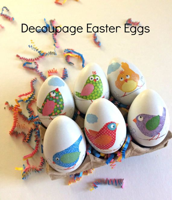 Decoupaged easter eggshand decorated birds decor easter kitchen decoupaged easter eggshand decorated birds decor easter kitchen decor hostess gift negle