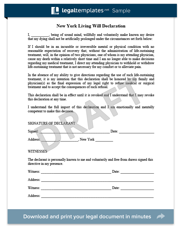Living Will Sample  For More Information On Living Wills And How