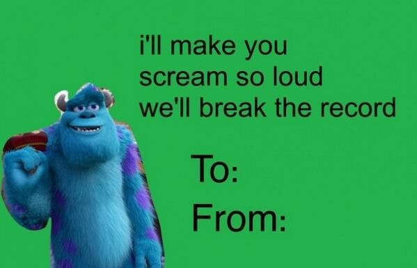 cartoon valentines card monsters inc Giggle Dick – Cartoon Valentine Cards