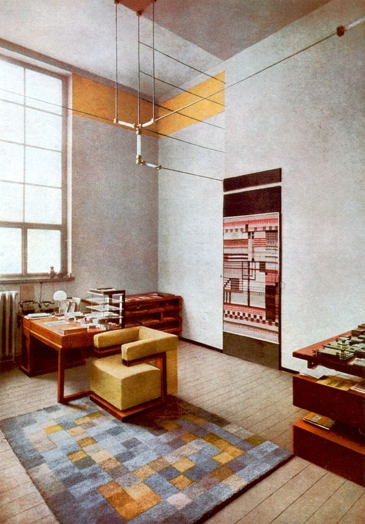 The office of Walter Gropius at the Bauhaus in Weimar with