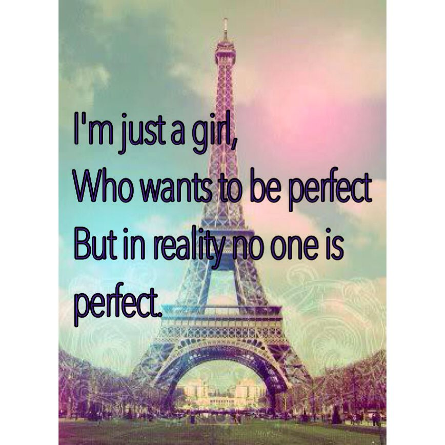 I want to be perfect
