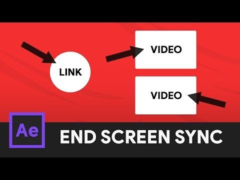 Youtube Outro Animation End Screen Syncing After Effects 2018 Tutorial Youtube Tutorial After Effects Video Film