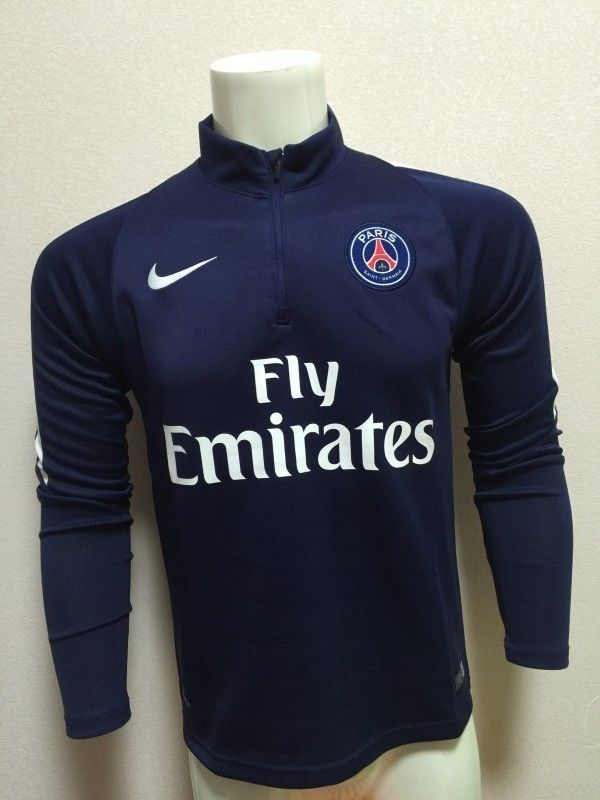 PSG Jersey 2015 16 Dark Blue Soccer Hoodies  194f2d6aba