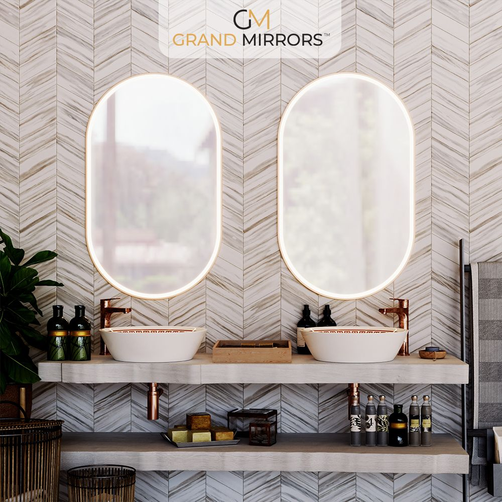Allure Grand Mirrors Mirrors For Bathroom And Make Up With Aluminum Frame Mirror Mirror With Lights Round Mirror Bathroom