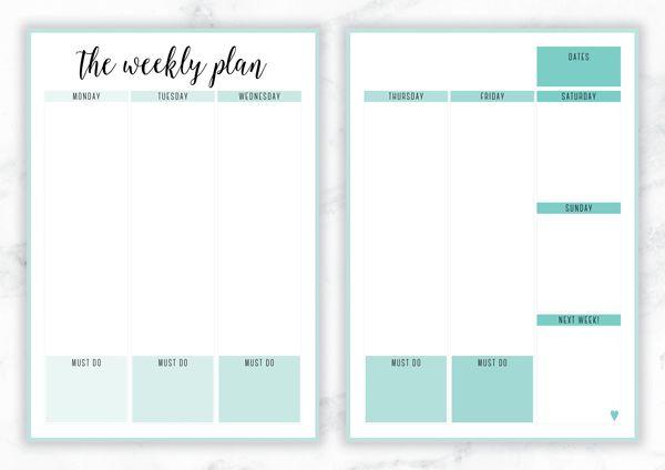 free printable irma the weekly plan weekly planner by eliza ellis