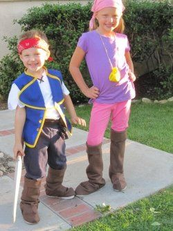 Jake and the Neverland Pirates Costume featuring Jake and Izzy from the popular Disney Jr.  sc 1 st  Pinterest & Jake and the Neverland Pirates Costume featuring Jake and Izzy from ...
