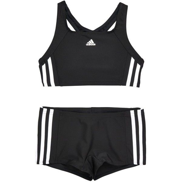 9dc9334cdb Adidas Older Girls 2 Piece Swimsuit ($27) ❤ liked on Polyvore featuring  swimwear,