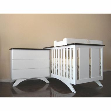 Eden Baby 2 Piece Nursery Set - Madison Convertible Crib and Dresser ...