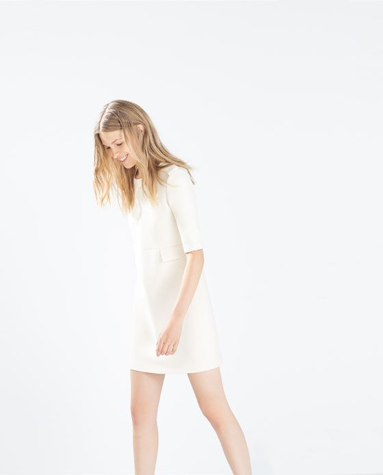 Image 3 of SEAMED DRESS WITH FLAPS from Zara