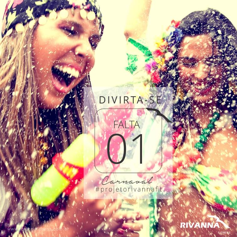 A Rivanna Fitness deseja a todos um excelente carnaval para quem vai cair na folia e um ótimo descanso para quem aproveitar a ocasião para repor as energias. DIVIRTA-SE!