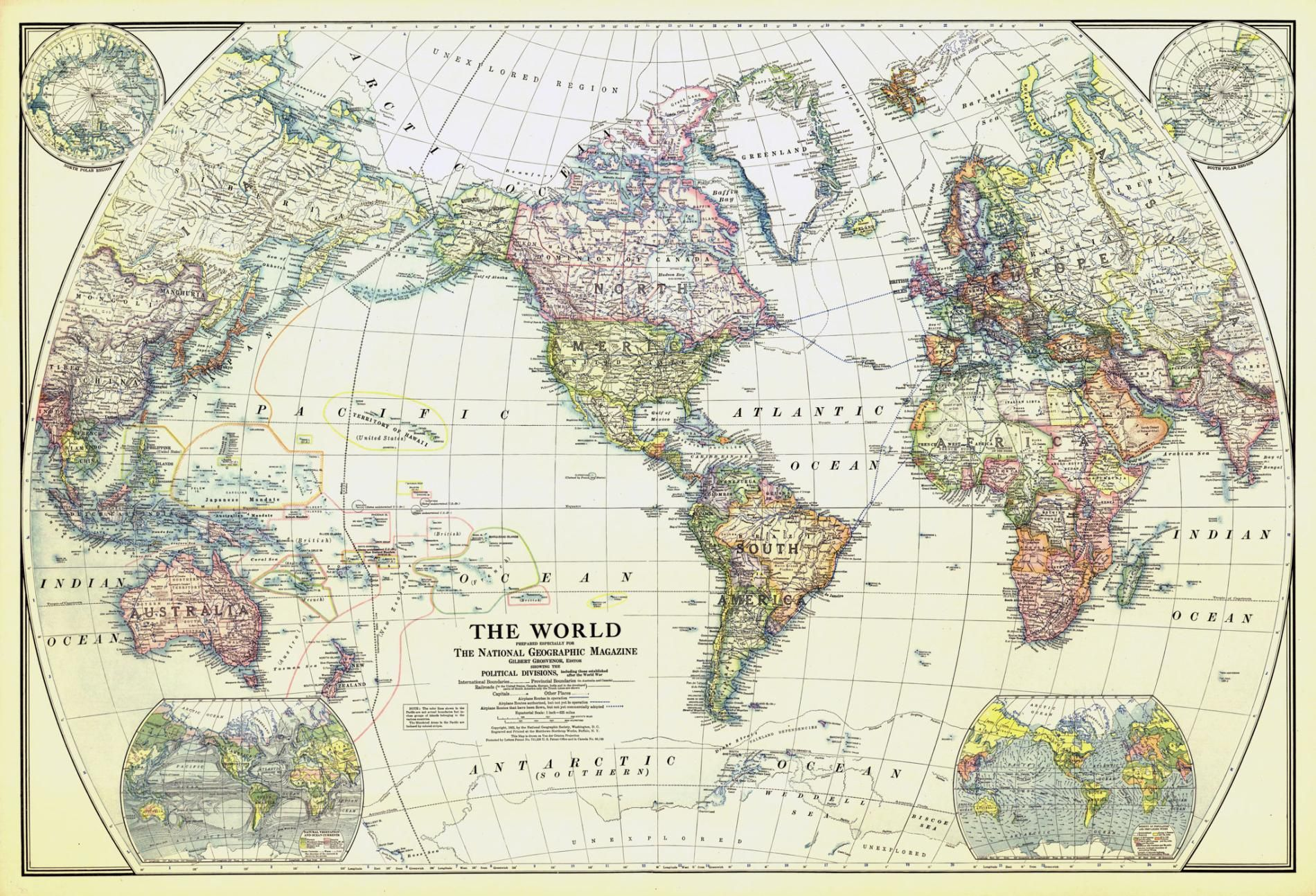 Discover Fascinating Vintage Maps From National Geographics - National-geographic-us-map