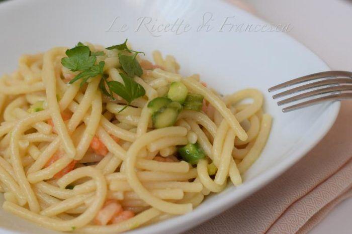 Pici gamberetti e asparagi ricetta semplice