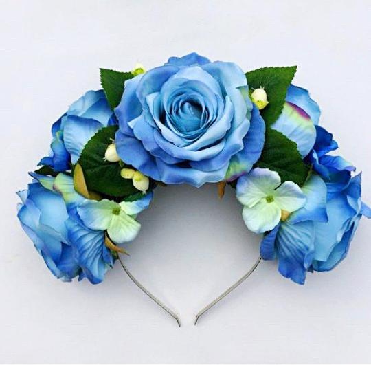 Blue Flower Crown Png Blue Flower Crown Blue Flowers Crown Png