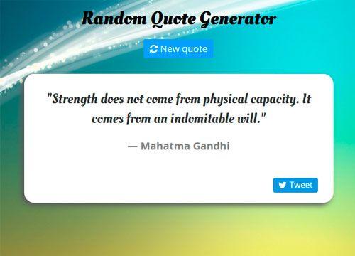 RandomQuoteGenerator - AngularJS test project