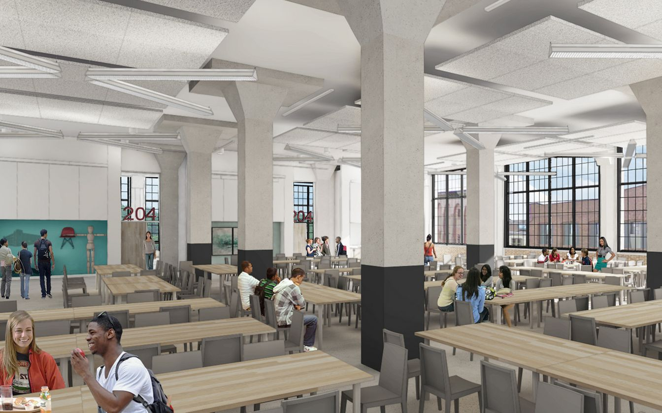 cafeteria - baltimore design schoolziger/snead architects