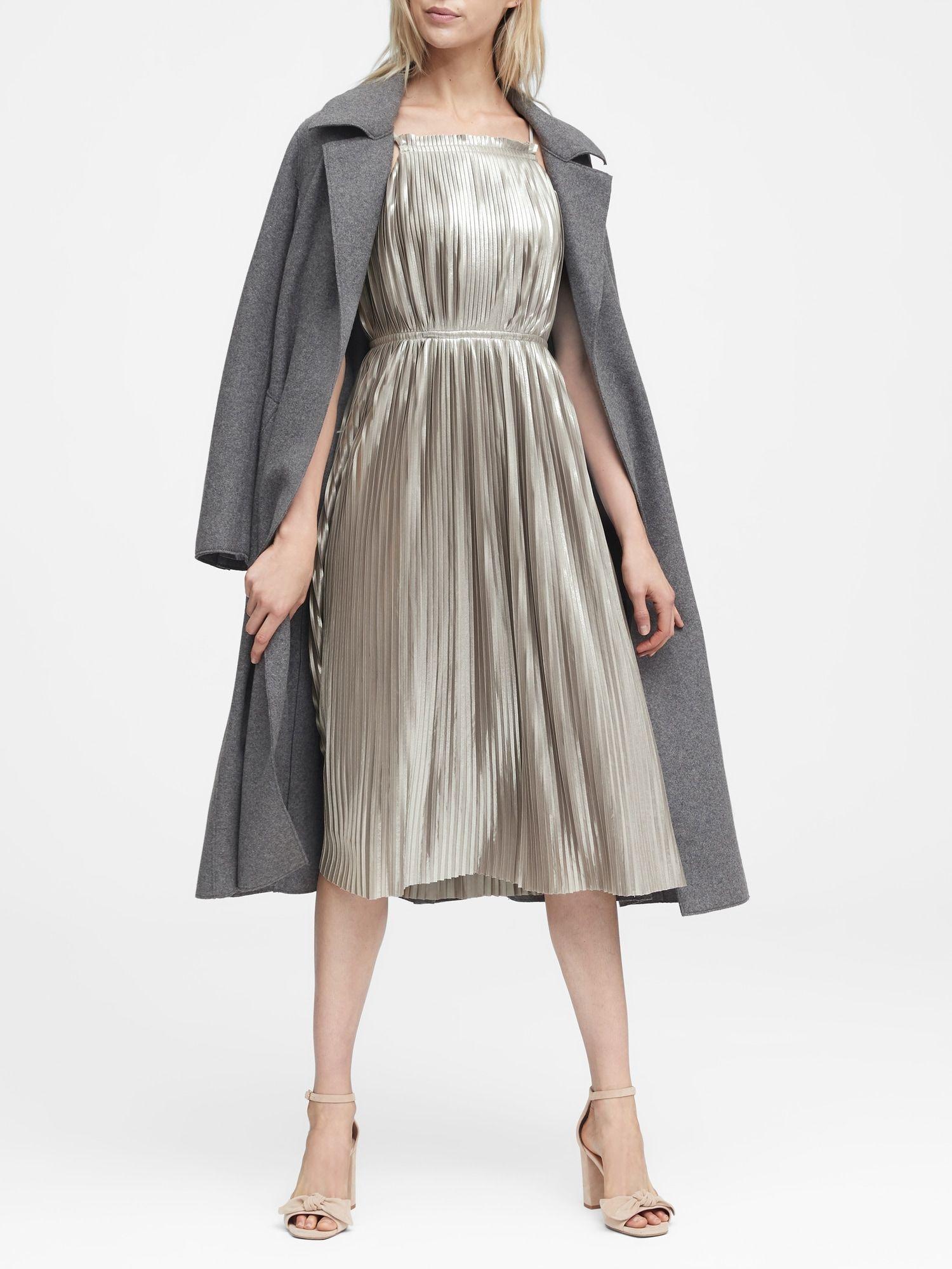 57fb55f3fe Metallic Pleated Dress   Banana Republic   sophisticated   Dresses ...