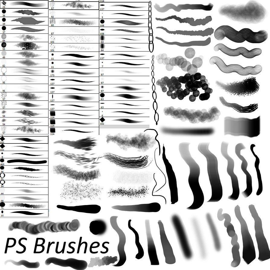 15 Free Drawing & Painting Brush Sets Ps