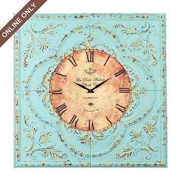 Shabby Aqua Floral Clock at Kirkland\'s   Appartment Stuff ...