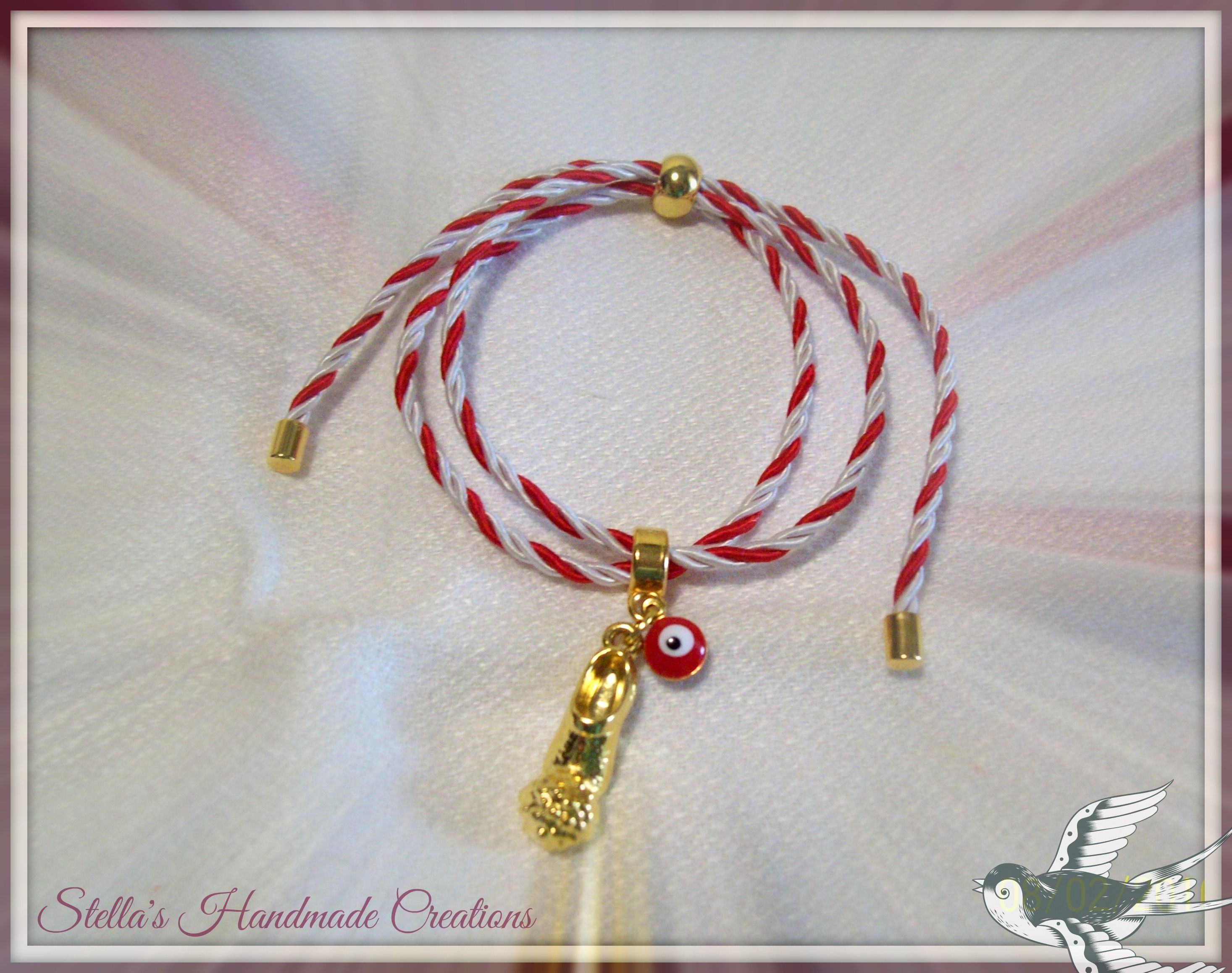March bracelet with greek tsarouchi and red evil eye Βραχιόλι μάρτης με  τσαρούχι και κόκκινο ματάκι 68cc0913c16
