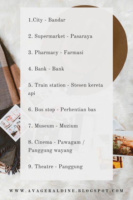 Malay Language Malaysia Bahasa Melayu City Bandar Beginner Lesson Malay Language English For Beginners