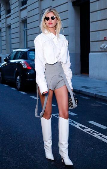 Resultado de imagem para over the knee branca street style
