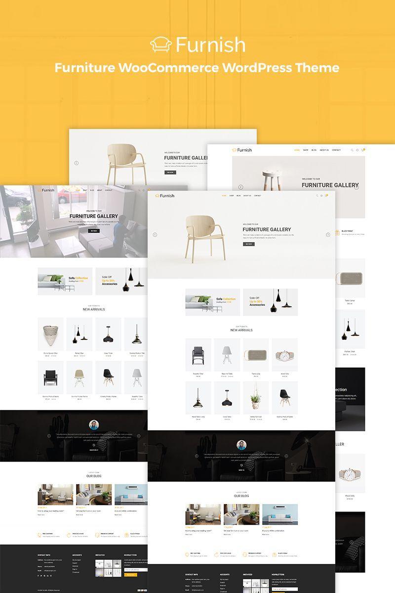 furnish minimal furniture woocommerce wordpress theme a clean and rh pinterest com