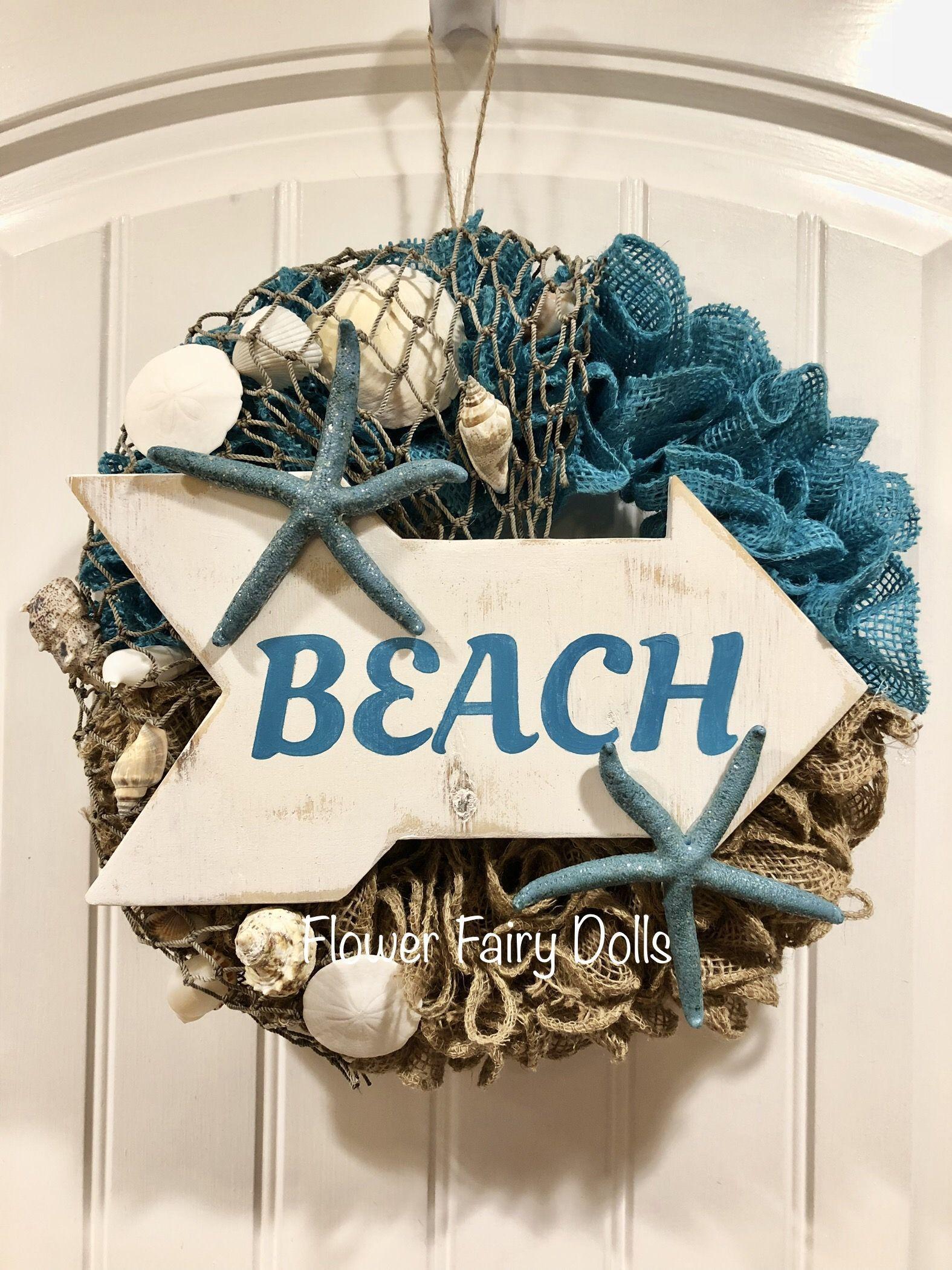 Photo of Beach march through canvas wreath