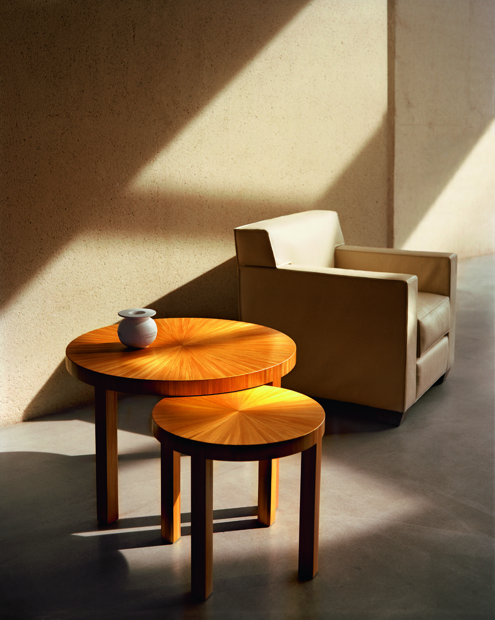 Jean Michel Frank Soleil Tables In Natural Straw Marquetry  # Muebles Saint Michel