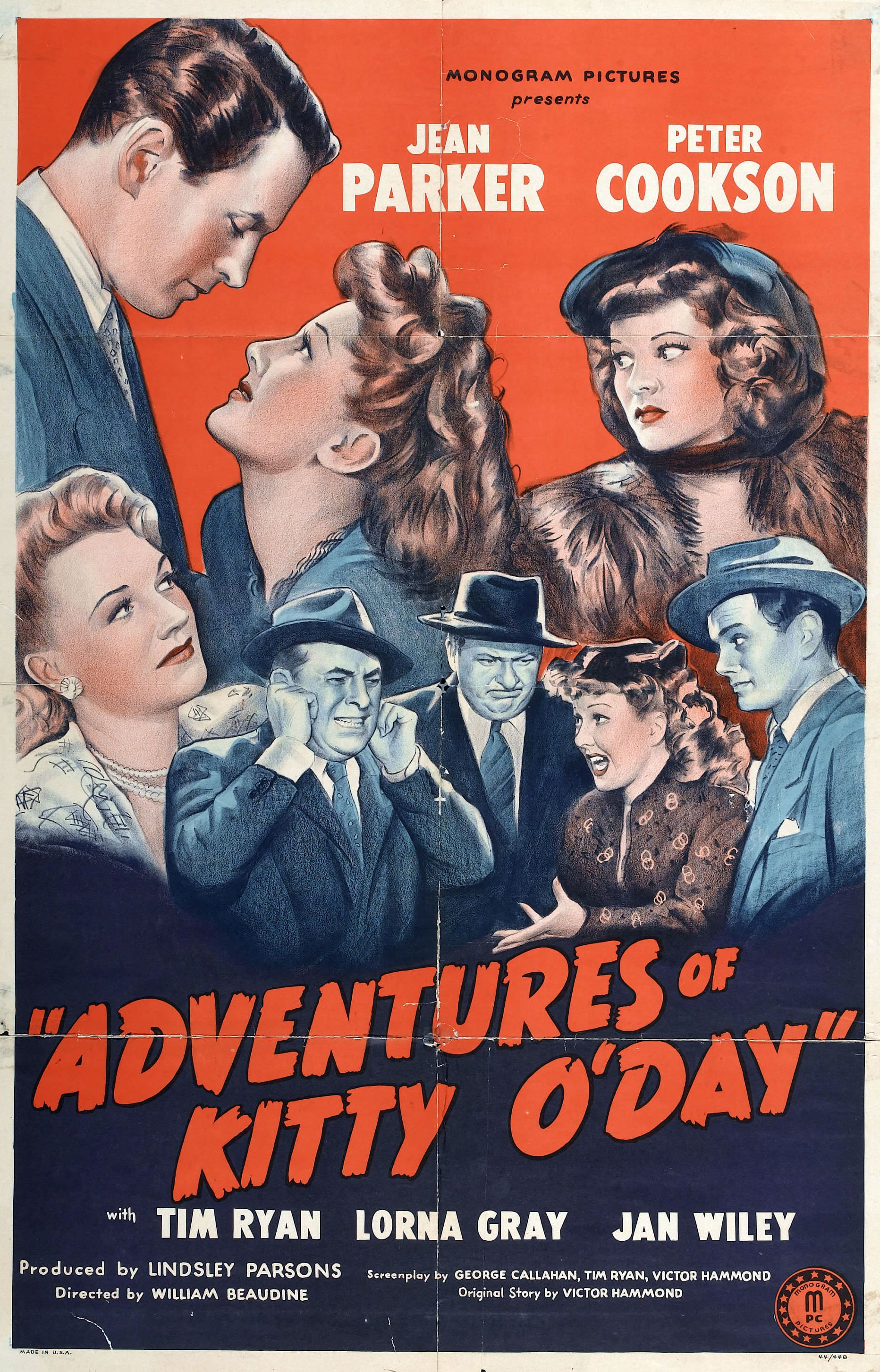 Adventures of Kitty O'Day (1945) Stars Jean Parker, Peter