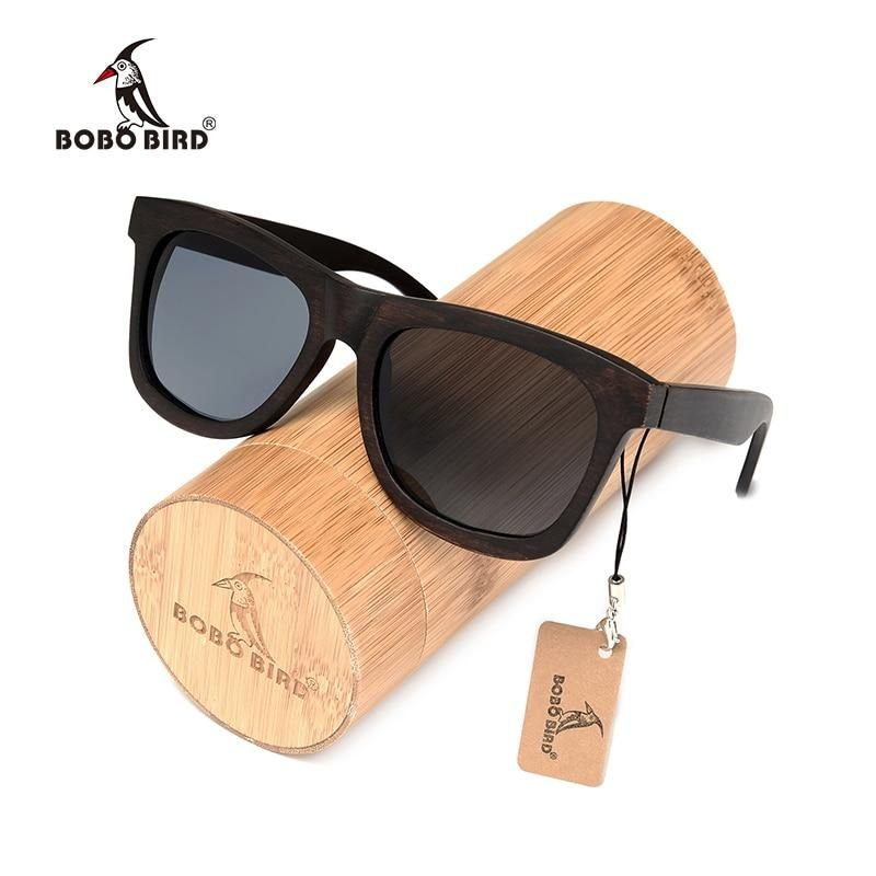 various design best prices most popular BOBO BIRD Polarized Ebony Handmade Wooden Sunglasses ...