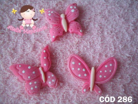 Molde de borboletas pequenas com 03 modelos R$ 3,92