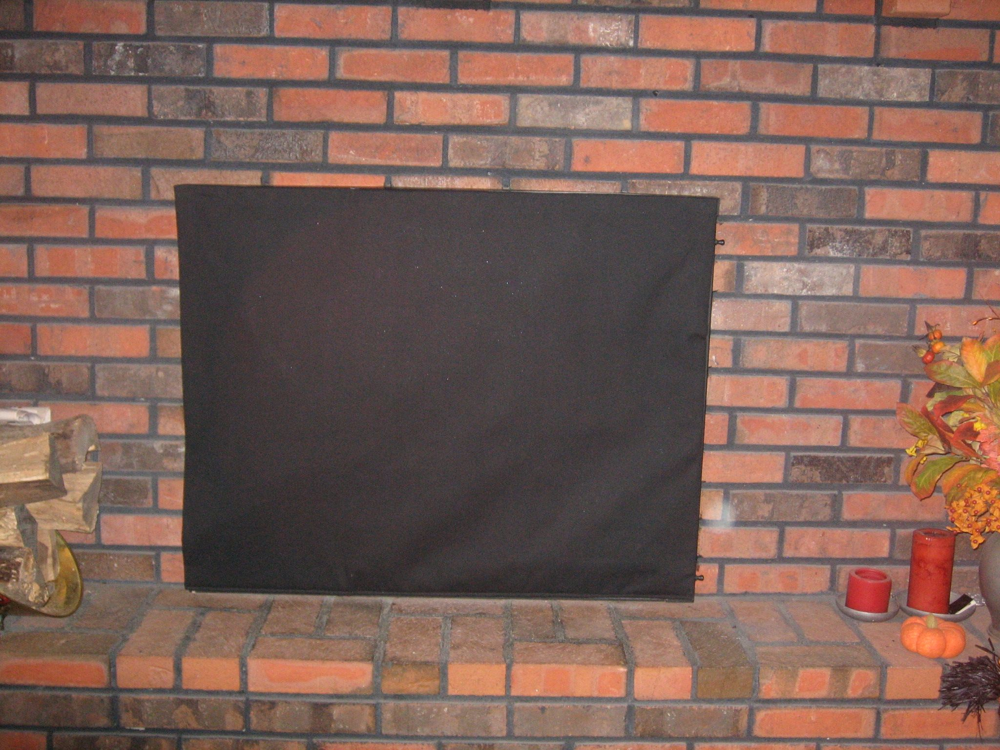 Magnetic Insulated Fireplace Fashion Cover In Just Black
