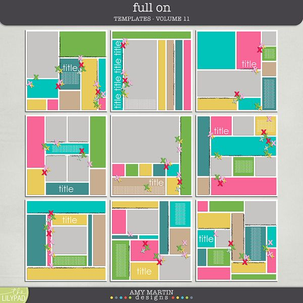 Project Life Layouts, Templates