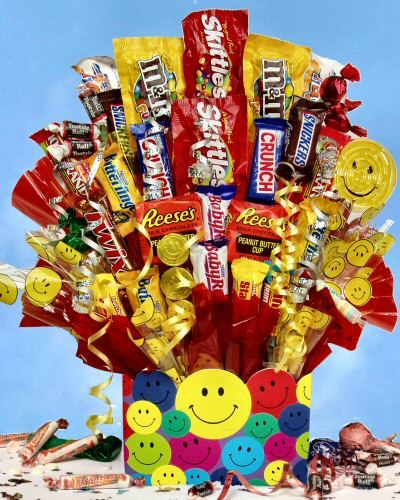 What is a list of different types of candy?