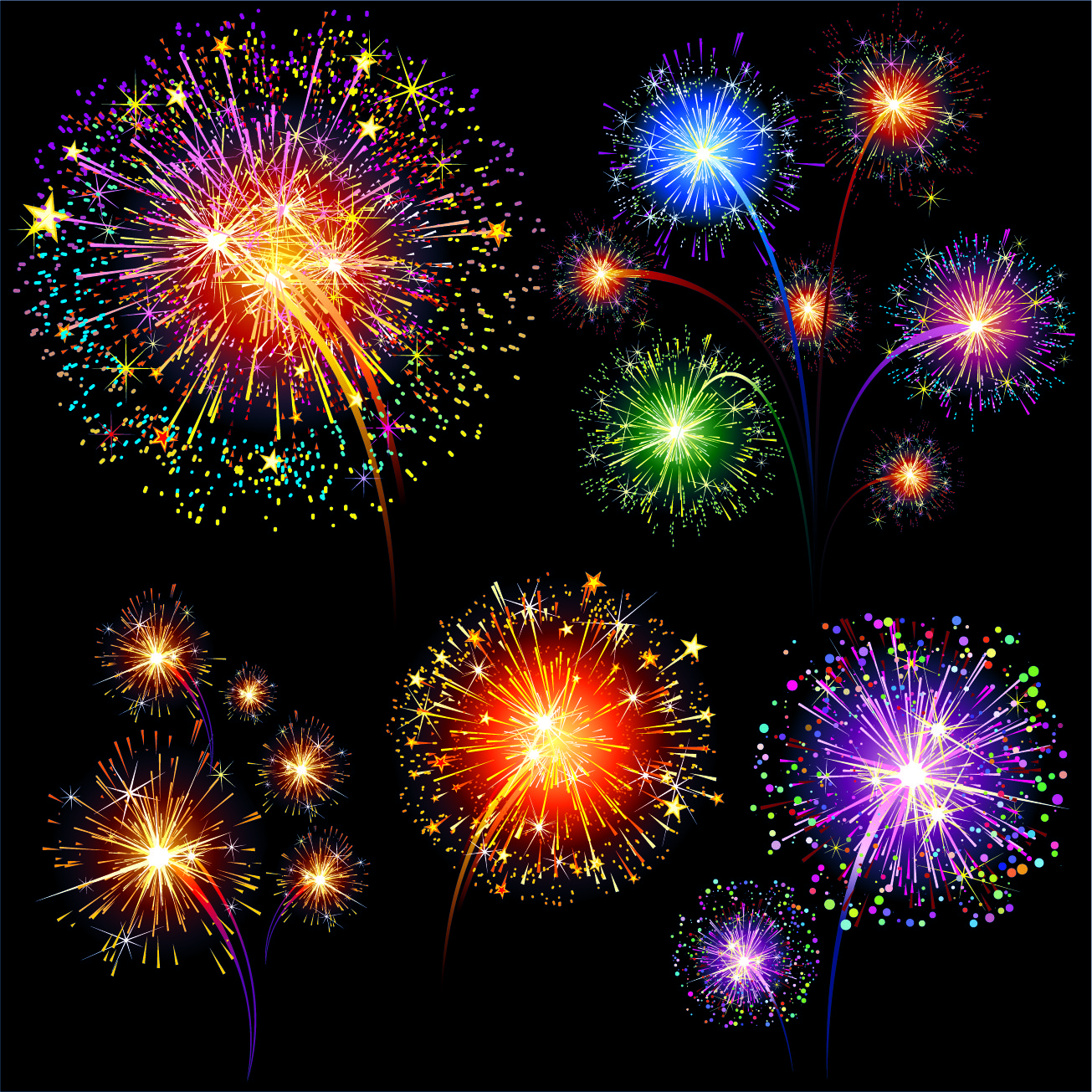 vector fireworks fireworks free vectors download 4vector