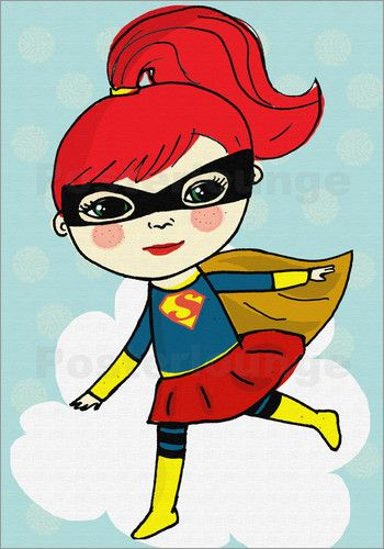 Little Miss Arty - - superheld heldin mädchen comic stil